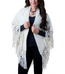 simply natural alpaca triangle shawl