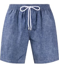 barba denim swim shorts - blue