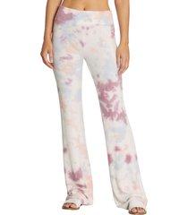 women's wildfox tennis club fleece pants, size large - pink