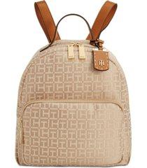 tommy hilfiger julia logo jacquard dome backpack