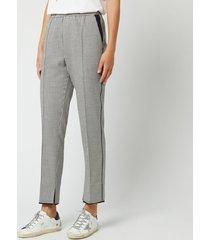 golden goose deluxe brand women's minori pants - navy white check - s - multi