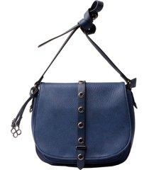 bolsa fedra f6516 azul marinho - azul marinho - feminino - dafiti