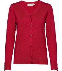 cardigan-knit light stickad tröja cardigan röd brandtex