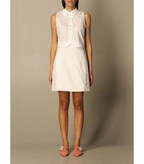 emporio armani dress emporio armani shirt dress in cotton