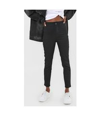 calça sarja coca-cola jeans jegging london preta
