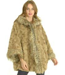 abrigo piel beige bou's