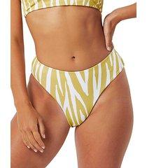 tally zebra-print bikini bottom