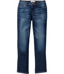 jeans i powerstretch med speciellt skuret magparti