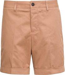 ami alexandre mattiussi beige cotton chino bermuda shorts