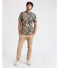 camisa m/l resort maxi print