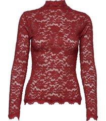 t-shirt ls blouse lange mouwen rood rosemunde