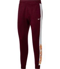 pantalon bordó reebok essentials linear logo hombre s 21838