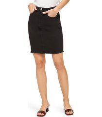 jen7 by 7 for all mankind denim pencil skirt, size 4 in black at nordstrom