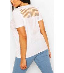 plus slash back t-shirt, white