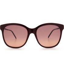 gucci gucci gg0654s burgundy sunglasses