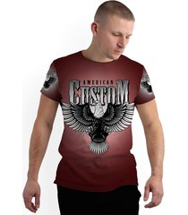 camiseta stompy new collection american custom vermelhp - kanui
