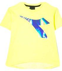 diadora yellow fluo t-shirt with logo