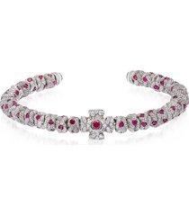 be unique designer men's bracelets, red passion bracelet w/zircons