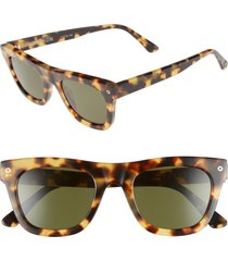 women's electric andersen 49mm sunglasses - gloss spotted tortoise/ grey