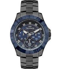 relógio technos masculino skymaster 6p79be/4c - cinza 6p79be/4c