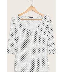 camiseta puntos blanco xs