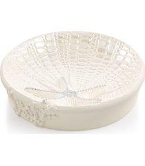 avanti bath, sequin shells soap dish bedding