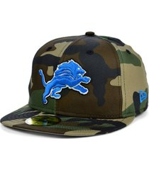 new era detroit lions woodland 59fifty cap