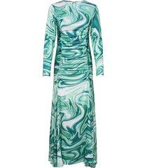 asta dress maxiklänning festklänning grön hosbjerg