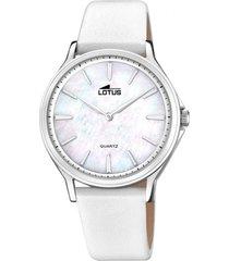 reloj retro blanco lotus