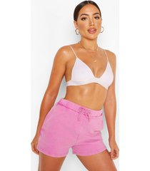 acid wash jersey sweat shorts, lilac