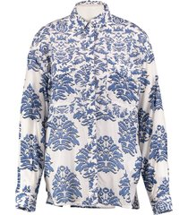 st studio supertrash langere oversized blouse soepel katoen valt ruim