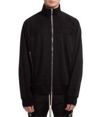 rick owens 4-bar zip-up sweatshirt