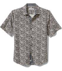 tommy bahama men's bamboo tiles geo-print silk shirt