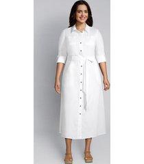 lane bryant women's button-front midi dress 28 white