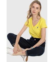 camiseta amarillo-azul us polo assn