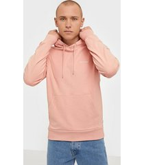 calvin klein logo embroidery hoodie tröjor pink