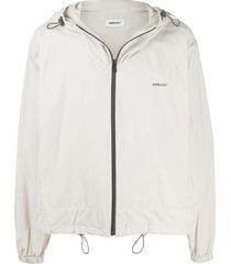 ambush hooded zip-up jacket - grey