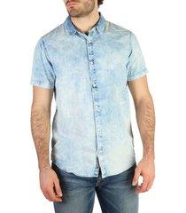 overhemd korte mouw calvin klein jeans - j30j304605