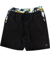 shorts praia hurley electric masculino