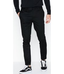 river island skinny axis tape byxor black