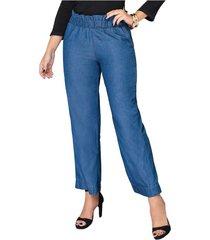 pantalon loose azul para mujer croydon