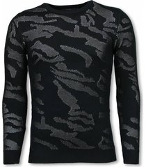 john h 3d camouflage patroon trui wit