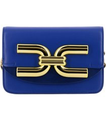 elisabetta franchi crossbody bags elisabetta franchi shoulder bag in leather with maxi logo