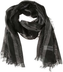 fabiana filippi checked fringed scarf