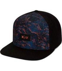 hurley men's clark little lava trucker hat
