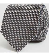 reiss cadden - silk blend tie in multi, mens