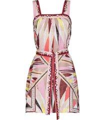 emilio pucci bes-print beach dress - pink