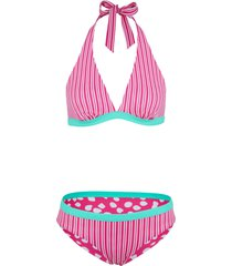 bikini reversibile all'americana (set 2 pezzi) (verde) - bpc bonprix collection