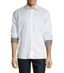 spread-collar long-sleeve shirt