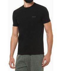 camiseta mc ckj masc logo basico peito - preto - pp